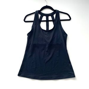 Fabletics Halter Sleevless Black Tank Medium
